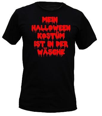 Soreso Design T Shirt Horror Schwarz Mein Halloween Kostum Ist In
