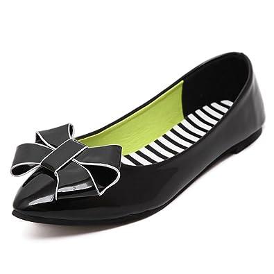 Feilongzaitianba Shoes Woman Flat Shoes New Casual Buttrtfly-knot Women Flats Slip on Shoes For