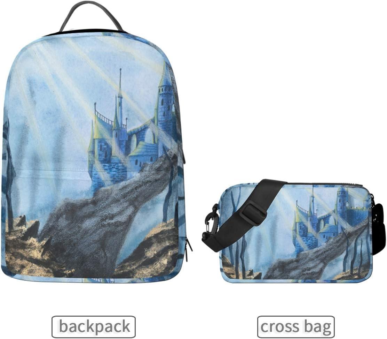 ALLMILL Loving Swans Forming Heart School Backpack