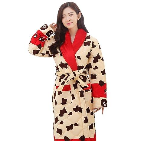 Robes pelo corto pijama gruesa par modelos caliente invierno ropa carpeta algodón albornoz Home de manga