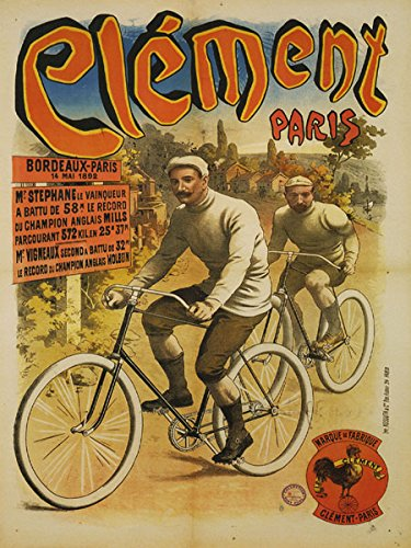 - Bicycle Bike Cycles Clement Paris Bordeaux 1892 French France 30