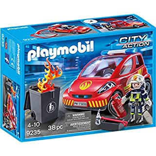 PLAYMOBIL Firefighter with Car Building Set
