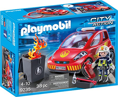 PLAYMOBIL® Firefighter with Car Building Set