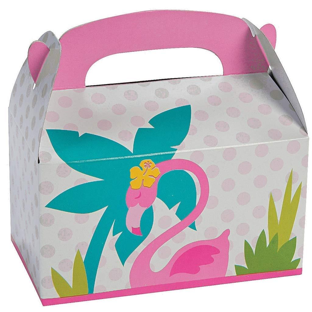 6 x Flamingo regalo ebox Caja del paquete Papel de regalo ...