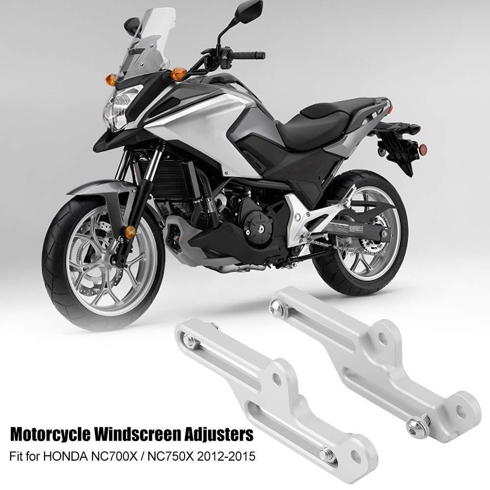Staffa per parabrezza Colore : Argento Regolatori parabrezza moto Staffa parabrezza per Honda NC700X // NC750X 2012-2015