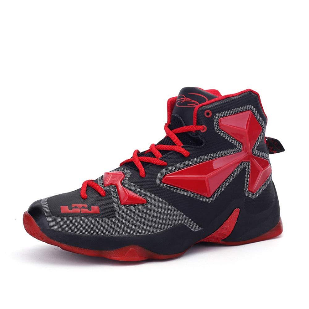 ASDFGH Basketball-Schuhe, Sportschuhe Für Männer Tragen Dämpfung Atmungsaktive Outdoor-Laufschuhe Hoch, Um Rüstung Stiefel Zu Helfen,A,43