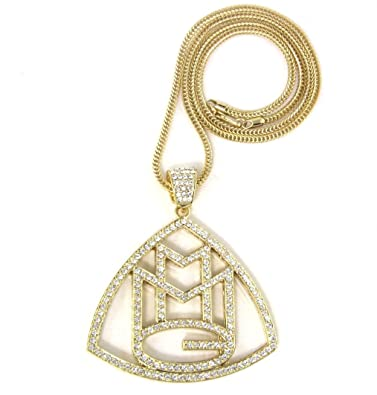 Amazon iced out gold rick ross mmg pendant 36 franco iced out gold rick ross mmg pendant 36quot franco necklace chain aloadofball Gallery