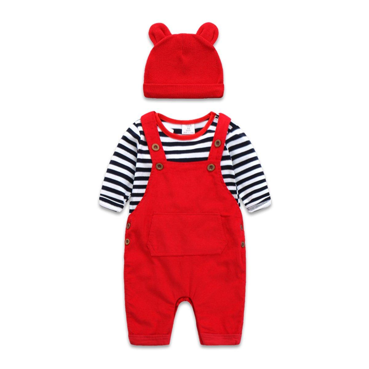 36cb56325 Amazon.com  Boarnseorl Newborn Baby Boy and Girl Clothes Set Infant ...