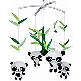 [ Cute Pandas ] Lovely Infant Music Mobile Handmade Baby Crib Mobile