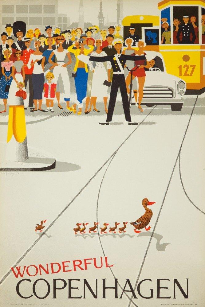 Wonderful Copenhagenヴィンテージポスター(アーティスト: Vagnby )デンマークC。1961 12 x 18 Art Print LANT-61109-12x18 B017Z78VC4 12 x 18 Art Print12 x 18 Art Print