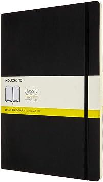 Hard Cover and Elastic ClosureJournal Moleskine Classic Squared Paper Notebook