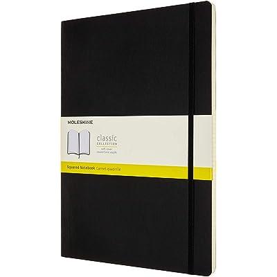 Moleskine, Libreta Clásica con Páginas Cuadriculadas, Tapa Blanda y Cierre Elástico, Tamaño A4 21 x 29.7 cm, Color Negro, 192 Páginas