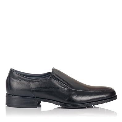 BAERCHI 4682 Mocasin Vestir Ancho Hombre Negro 40: Amazon.es: Zapatos y complementos