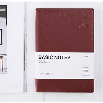 zantec Simple piel sintética portátil 176 páginas diario diario ...