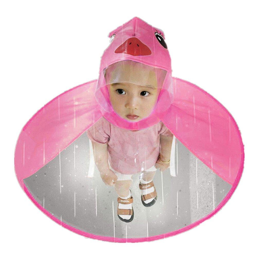 Sannysis Chubasquero para Niños Rain Jacket Raincoat Niñas Niños Impermeable con Capucha Portátil Poncho Chaqueta Impermeable PVC Transparente Raincoat