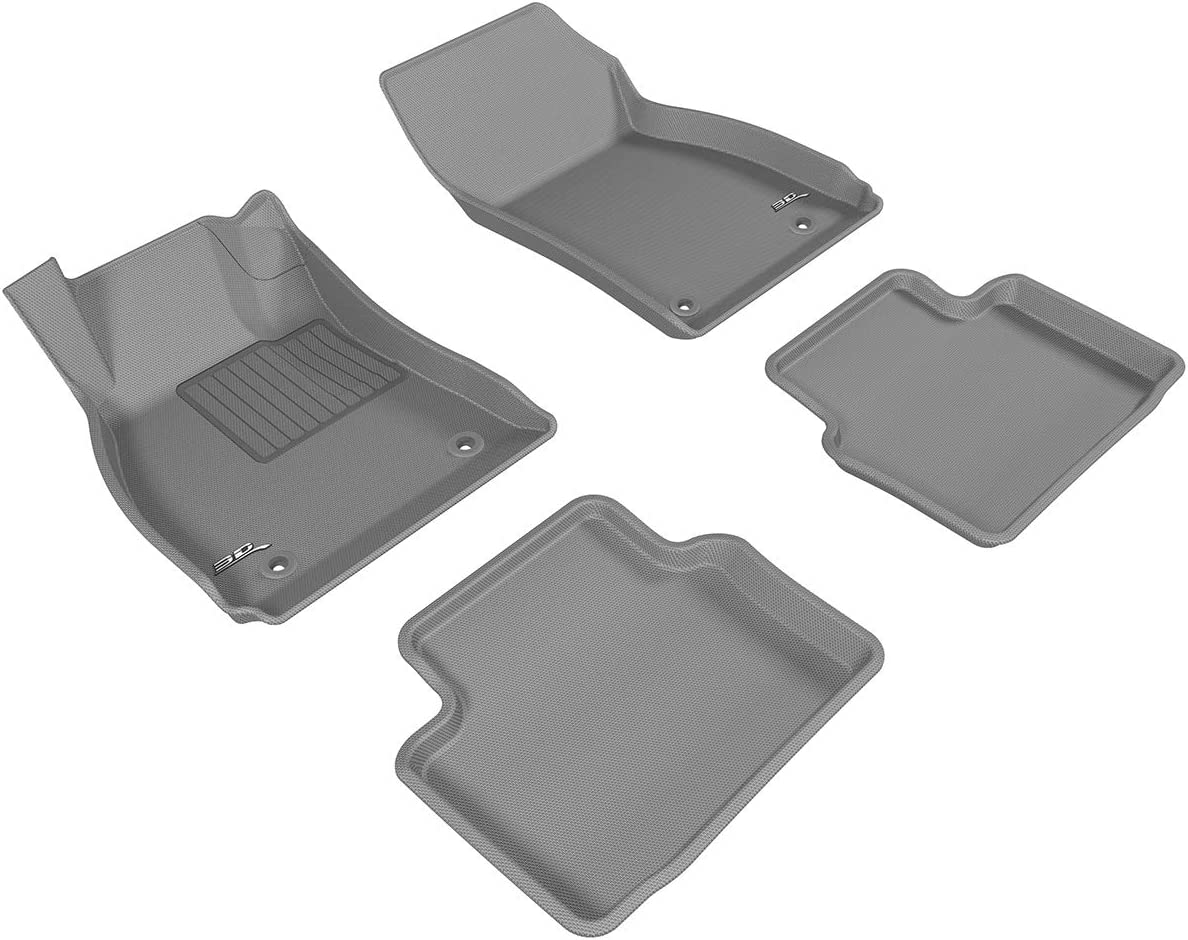Black 3D MAXpider Front Row Custom Fit All-Weather Floor Mat for Select Buick Regal Models Kagu Rubber