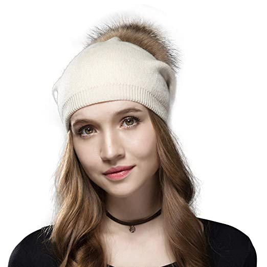 Knit Hat for Women with Soft Warm Fleece Lined d5ec63edd5de