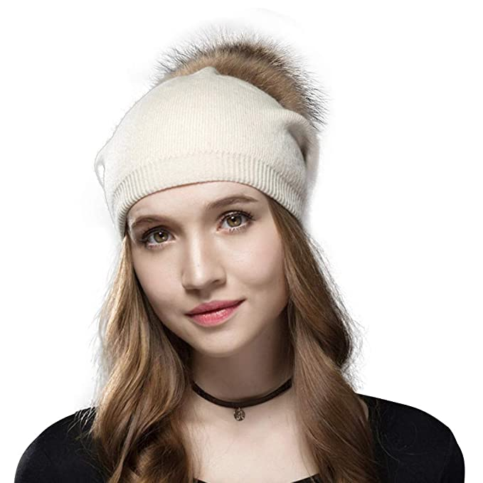 ea2e2c1b134 Knit Hat for Women with Soft Warm Fleece Lined