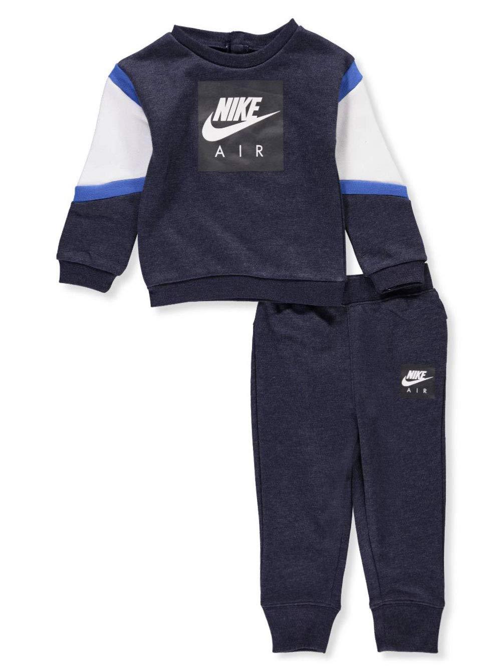 NIKE Baby Boys' 2-Piece Sweatsuit Pants Set - Obsidian Heather, 18 Months