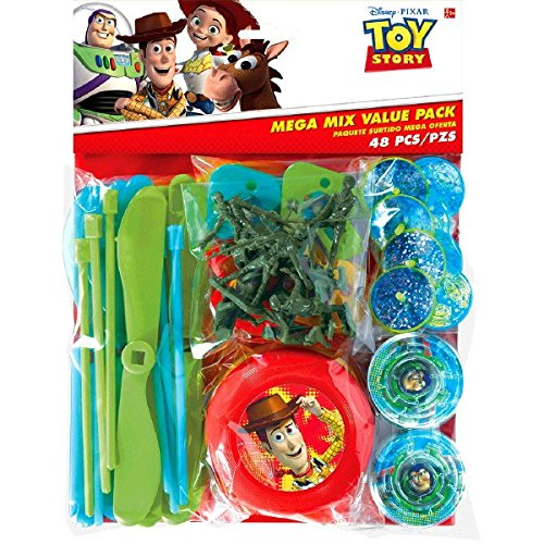 Toy Story Power Up Birthday Party Mega Mix Assorted Favor Kit, Pack Of 48, Red/Green/Blue , 11