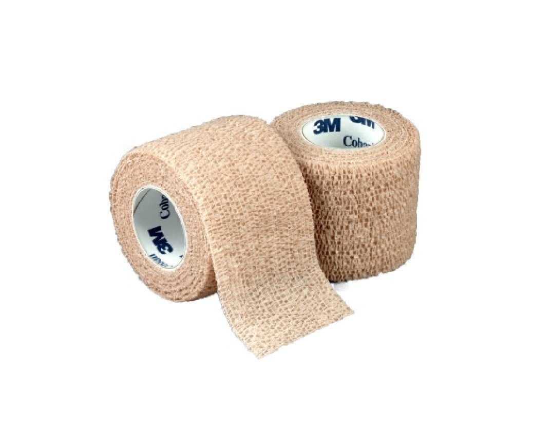 Amazon.com: Nexcare Coban Self-Adherent Wrap, 1 Inch X 5 Yards, 5 Tan Wraps: Health & Personal Care