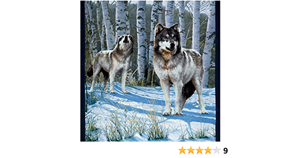 Whistler Studios Collection One of A Kind Wolves By the Yard 1 Yard Panel New More Available Windham Fabrics