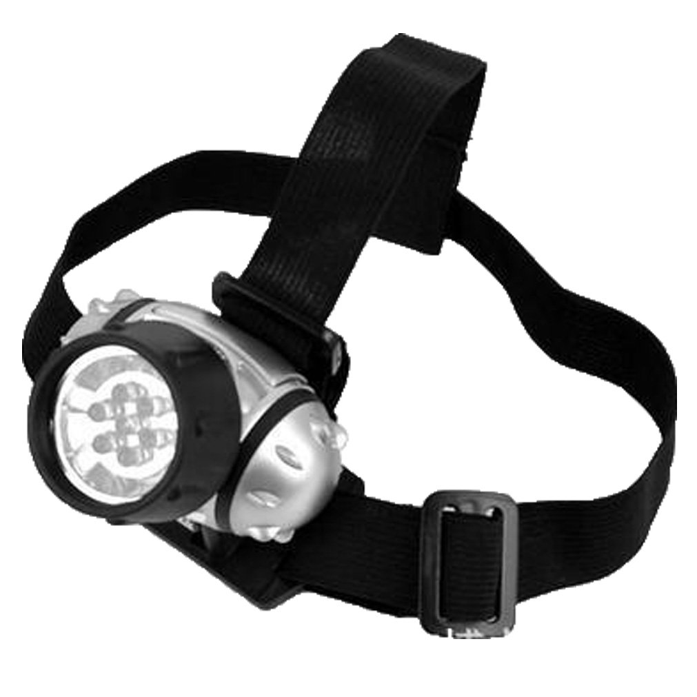 TopEUR LED Headlamp Headlight Adjustable Head Strap Security Light for Outdoor Sports Running Camping Reading Fishing – Lightweight, Comfortable and Weatherproof