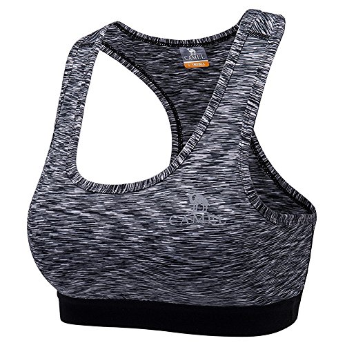 Camel Women's Outdoor Sports Bra High Impact Supportive Yoga Workout Gym Padded Bra