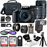 Canon T7i w/64GB and TTL Flash, 4 lens KIt (18-55mm, 55-250mm, 58mm Wide Angle & Telephoto)