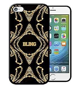 Cokitec-Carcasa para iPhone 4 y Samsung Bling Bling Swag, con pedrería, color dorado, color dorado