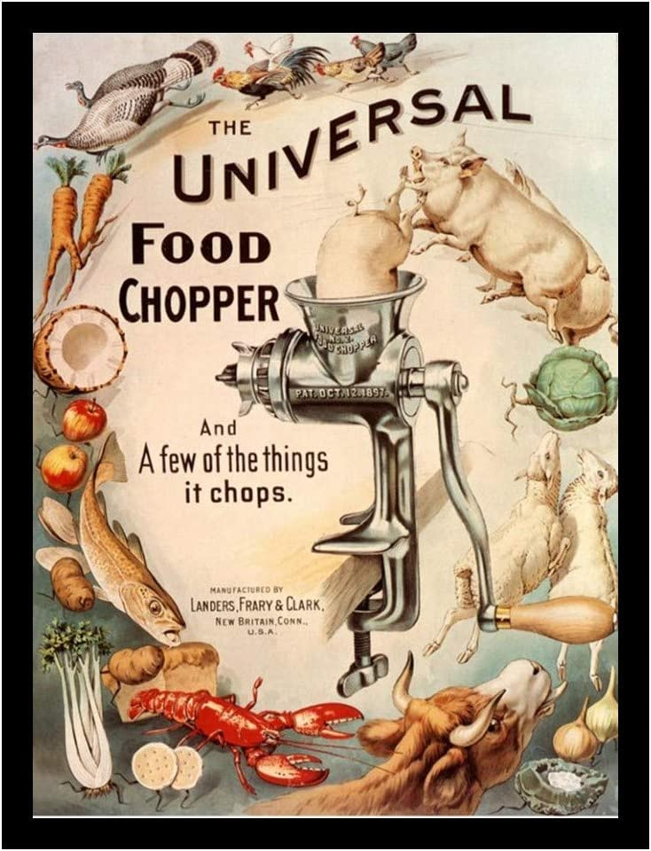 8 x 10 Photo Print Universal Food Chopper Advertising Vintage Old Advertising Campaign Ads