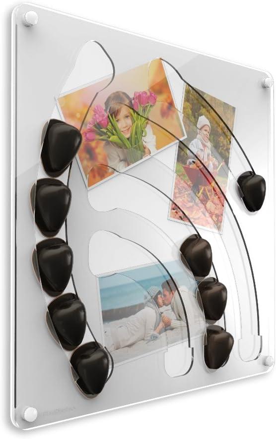 PlexiDisplays 2013.08.001 Porte-capsule mural pour capsules Special-T Motif cascade Blanc 41 x 40 cm