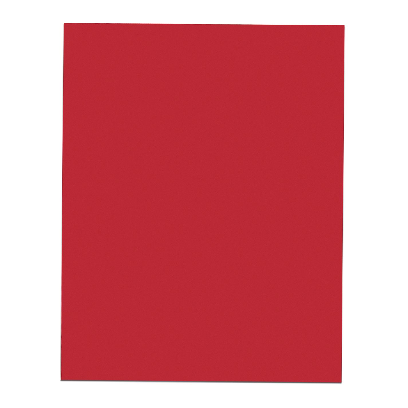 Roaring Spring Red Poster Board, 22'' x 28'', 25 sheets per carton-Sold by the carton