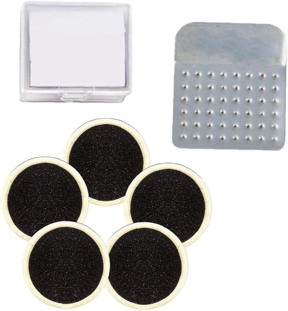 Bicycle Tire Repair Glue-free Tire Repair Mini Emergency Kit Tools Include Files and 6 Tire Repair Tablets