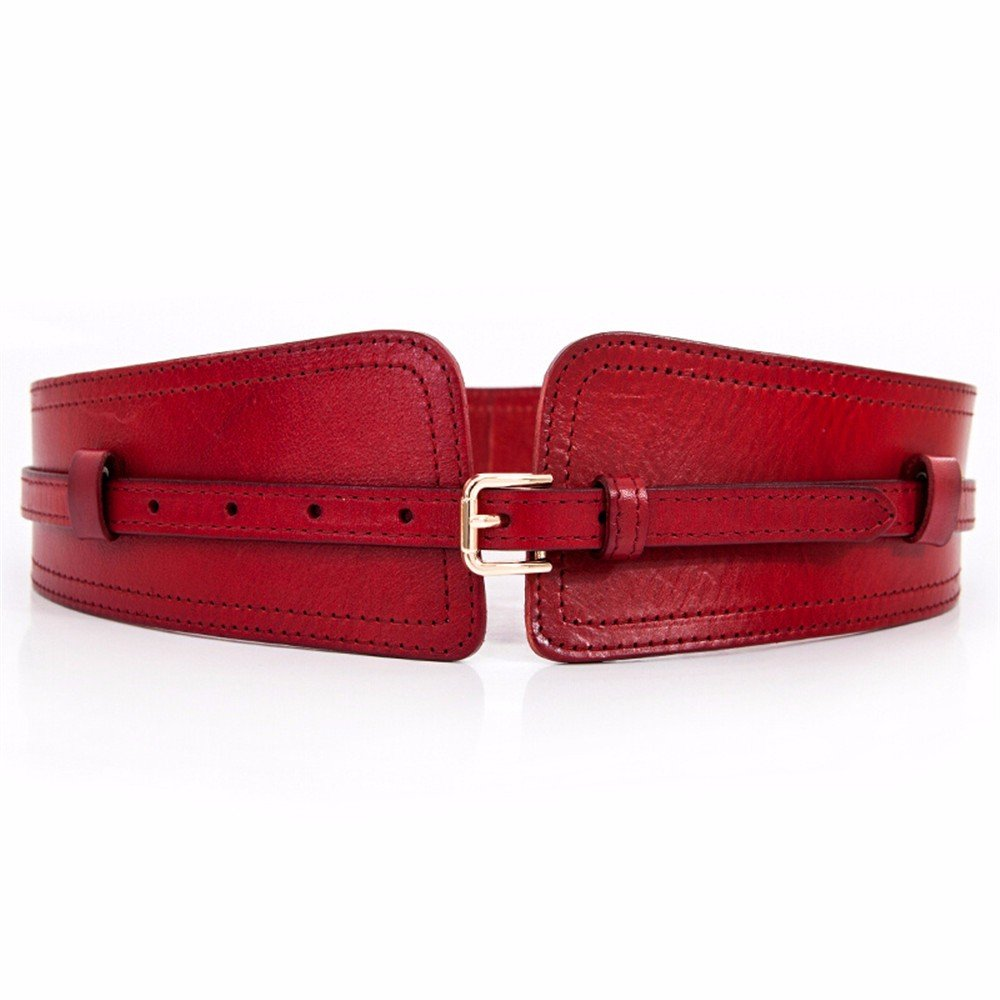 SAIBANGZI Ms Women All Seasons Multifunctional Dual Purpose Head-Layer Cowhide Wide Waist-Closure Can Knot Waist Belt Girlfriend Present