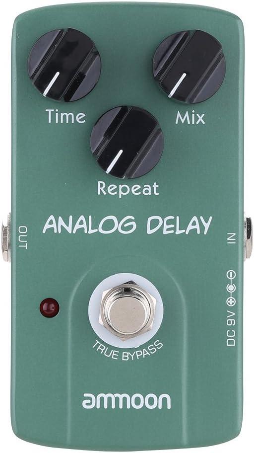 ammoon AP07 Analog Delay Guitarra Eléctrica Pedal Efecto True Bypass