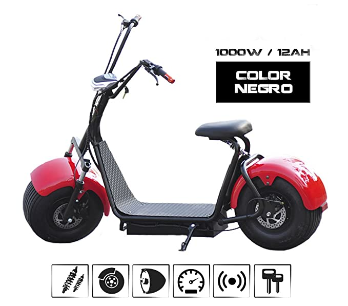 o Patinete e- Scooter. Patín de paseo tipo moto sin carnet ...