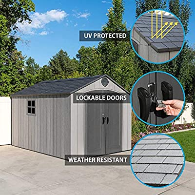 lifetime outdoor storage shed 8x12.5 review