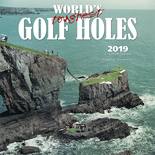 World's Toughest Golf Holes 2019 12 x 12 Inch Monthly Square Wall Calendar by Wyman, Golfing Outdoor Sport