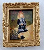 Melody Jane Dolls Houses House Miniature Accessory Little Girl in Blue Picture Painting Gold Frame