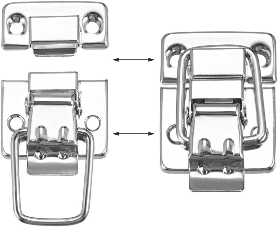 sourcing map 12Stk 37mmx30mm Metall Kleine Gr/ö/ße Koffer Haspe Verschluss Bronze mit Schraube DE de