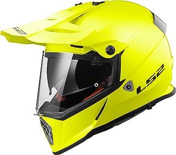 LS2-404361054S/162 : LS2-404361054S/162 : Casco enduro offroad motocross PIONEER MX436 SOLID COLOR AMARILLO TALLA S