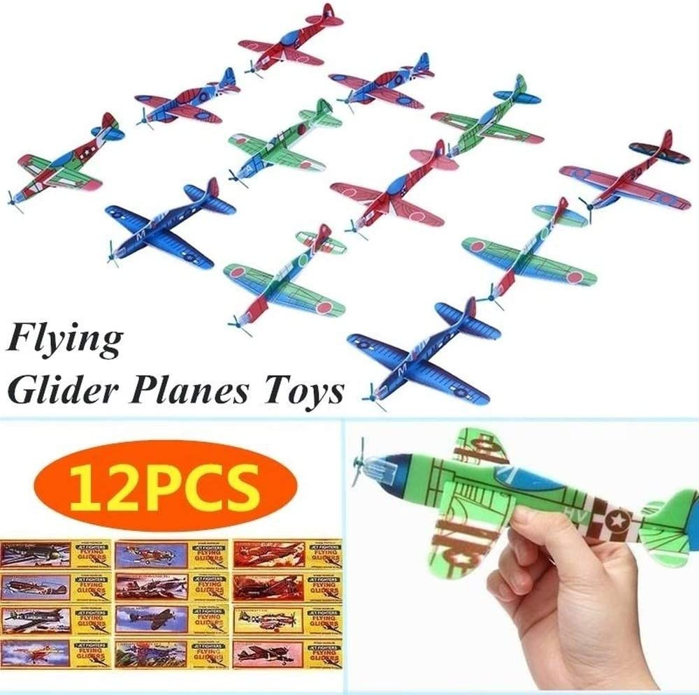 Packs of 1-12 Gliders Dinosaur Flying Plane Gliders Kids Party Bag Fillers