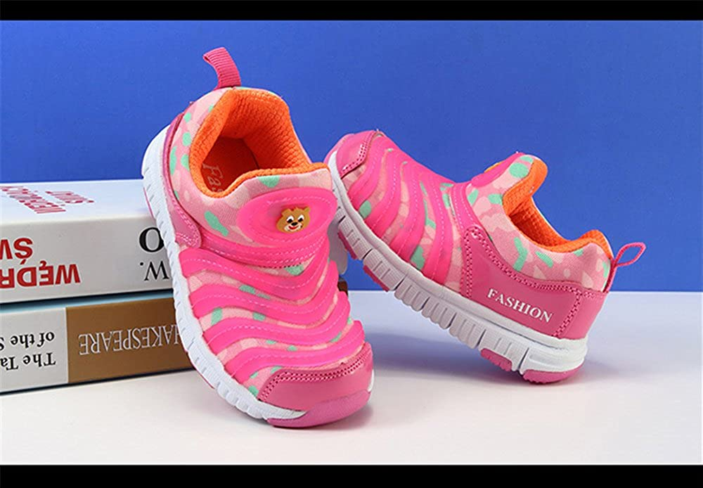 Rose town Boy and Girl Sneakers Kids Sports Running Shoes Comfortable Lightweight