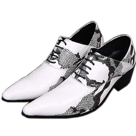 XER Zapatos Hombres Ayuda Baja Moda Piel de Serpiente Tatuaje ...