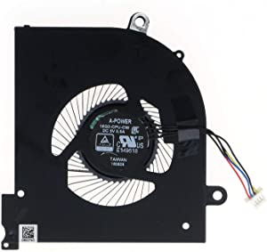 HK-part Fan Replacement for MSI GS65 GS65VR Laptop MS-16Q2 16Q2-CPU-CW Series CPU Cooling Fan 4-Pin DC5V 0.5A