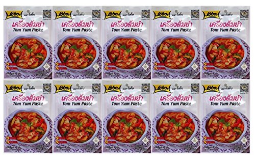 Lobo Tom Yum Soup Mix, Spicy, 30 Gram (Pack of 10)