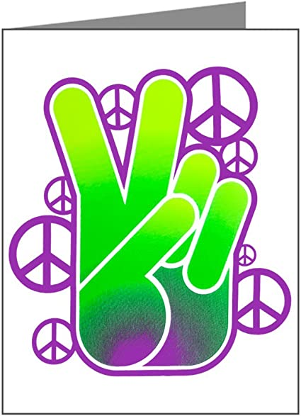 Peace Symbol Sign Neon Hand Royal Lion Beach Tote 2-Sided