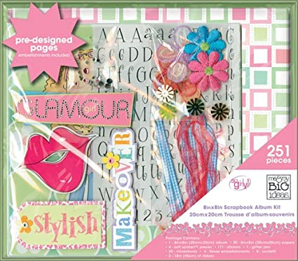 Amazon Me My Big Ideas Scrapbook Box Kit So Girly 8 Inch By