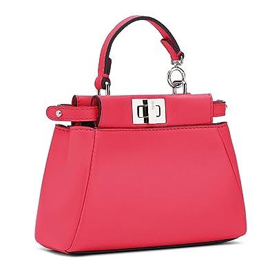 e21e2eb4f1 ... where to buy fendi micro peekaboo fuchsia leather handbag made in italy  8e552 a65d9